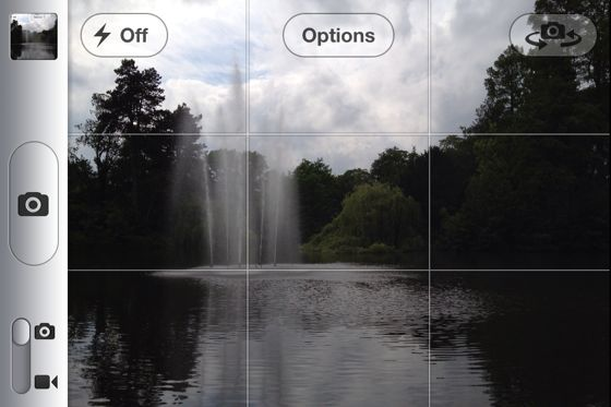 iPhone rule of thirds
