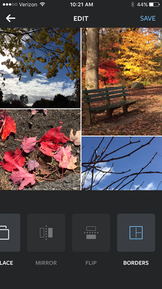 Layout photo collage app for iPhone