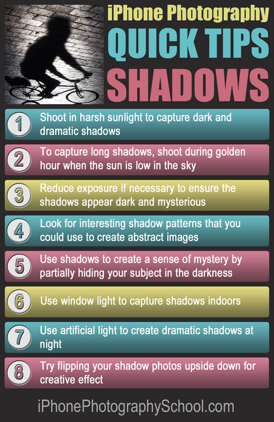 iPhone Shadows Quick Tips