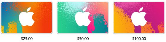 personlized itunes gift card